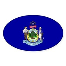 Maine State Flag Oval Decal