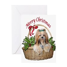 Lhasa Apso Christmas Greeting Card