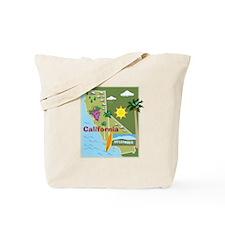 California Map Tote Bag