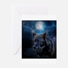 Cool Wolf Greeting Card