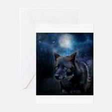 Unique Black wolf snow wolf white wolf wolf wildlife dog Greeting Cards (Pk of 10)