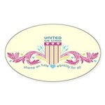 Shame on Hate Oval Sticker (50 pk)