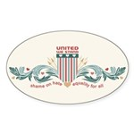 Equality For All Oval Sticker (10 pk)