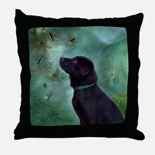 Cute Butterfly labs Throw Pillow