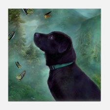 Unique Black labrador retriever Tile Coaster