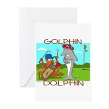 Golphin Dolphin Greeting Cards (Pk of 6)