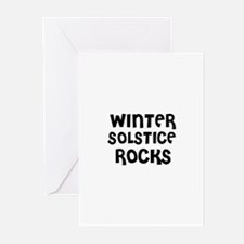 WINTER SOLSTICE ROCKS Greeting Cards (Pk of 10