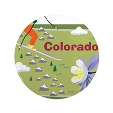"Colorado Map 3.5"" Button (100 pack)"