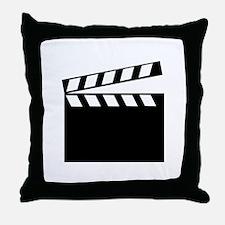 film clapper icon Throw Pillow