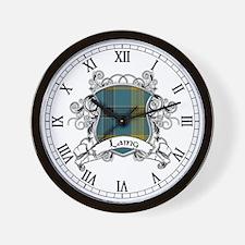 Laing Tartan Shield Wall Clock