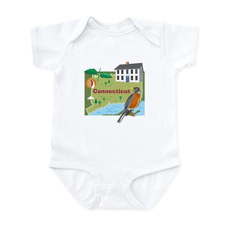 Connecticut Map Infant Bodysuit