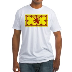 Scotland Scottish Blank Flag Fitted T-Shirt
