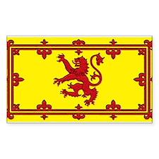 Scotland Scottish Blank Flag Rectangle Decal