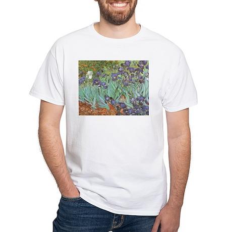 Van Gogh Irises White T-Shirt