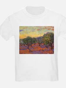 Van Gogh Olive Grove Orange Sky T-Shirt