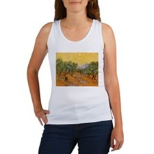 Van Gogh Olive Trees Yellow Sky And Sun Women's Ta