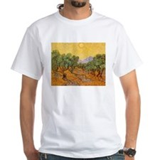 Van Gogh Olive Trees Yellow Sky And Sun Shirt