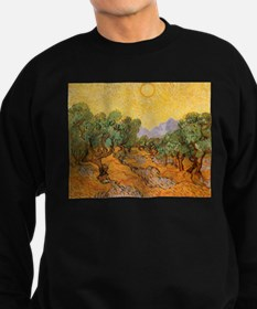 Van Gogh Olive Trees Yellow Sky And Sun Sweatshirt
