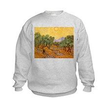 Van Gogh Olive Trees Yellow Sky And Sun Sweatshirt