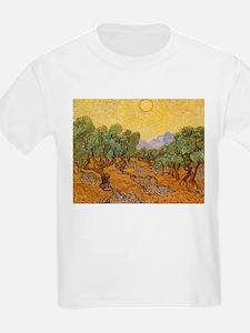 Van Gogh Olive Trees Yellow Sky And Sun T-Shirt