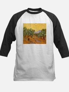 Van Gogh Olive Trees Yellow Sky And Sun Tee