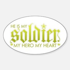 My Solder My Hero My Heart Oval Decal