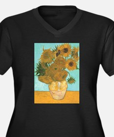Van Gogh Vase with Sunflowers Women's Plus Size V-