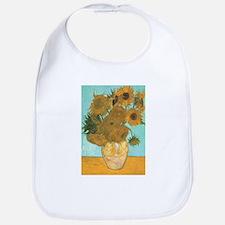 Van Gogh Vase with Sunflowers Bib