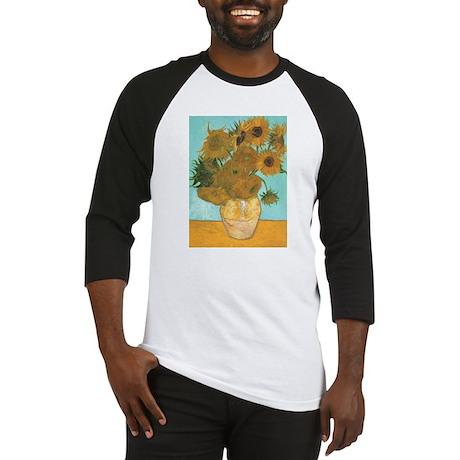 Van Gogh Vase with Sunflowers Baseball Jersey