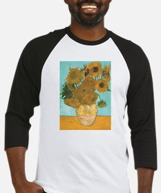 Van Gogh Vase with Sunflowers Baseball Jersey