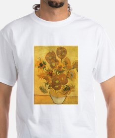 Van Gogh Vase w Sunflowers Shirt