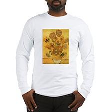Van Gogh Vase w Sunflowers Long Sleeve T-Shirt