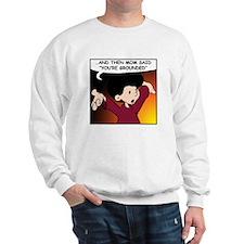 Moms are Nuts! Sweatshirt 2 sided comic
