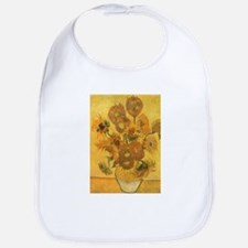 Van Gogh Vase w Sunflowers Bib