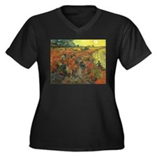 Van Gogh The Red Vineyard Women's Plus Size V-Neck