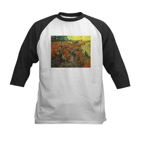 Van Gogh The Red Vineyard Kids Baseball Jersey