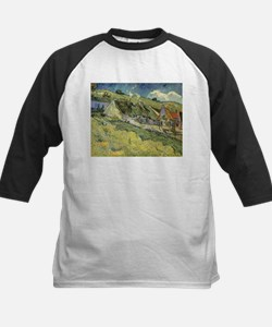 Van Gogh Thatched Cottages Kids Baseball Jersey
