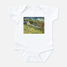 Van Gogh Thatched Cottages Infant Bodysuit
