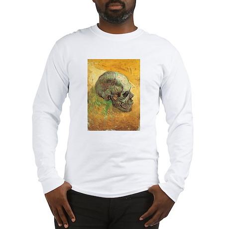 Van Gogh Skull Still Life Long Sleeve T-Shirt