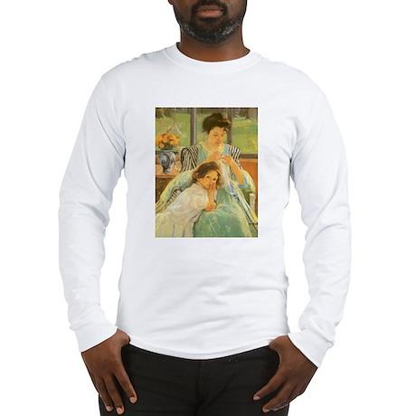 Young Mother Sewing by Cassatt Long Sleeve T-Shirt