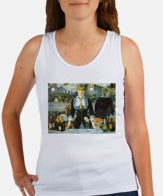 Manet, A Bar at the Folies-Bergere Women's Tank To