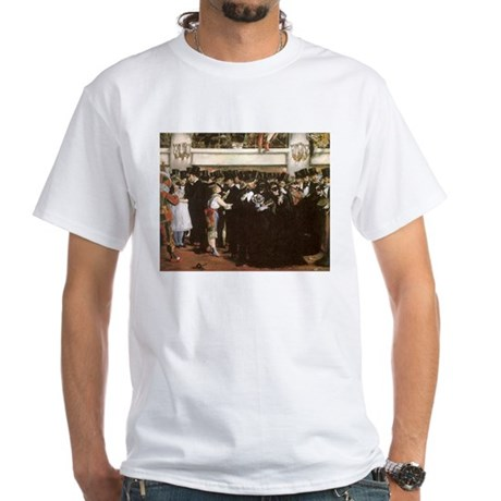 Masked Ball at the Opera by Manet White T-Shirt