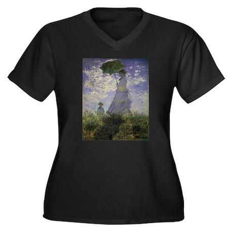 Claude Monet Woman w Parasol Women's Plus Size V-N