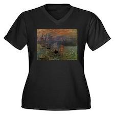 Impression, Sunrise by Claude Monet Women's Plus S
