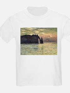 Claude Monet, Cliff Etretat Sunset T-Shirt