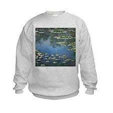 Waterlilies by Claude Monet Sweatshirt