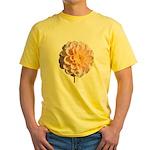 Pink Flower Yellow T-Shirt