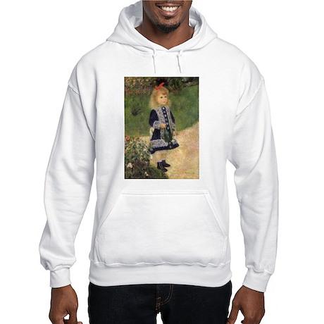 Renoir Girl w Watering Can Hooded Sweatshirt