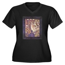 Seurat The Can-Can Women's Plus Size V-Neck Dark T