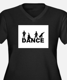 Zack Dance Women's Plus Size V-Neck Dark T-Shirt